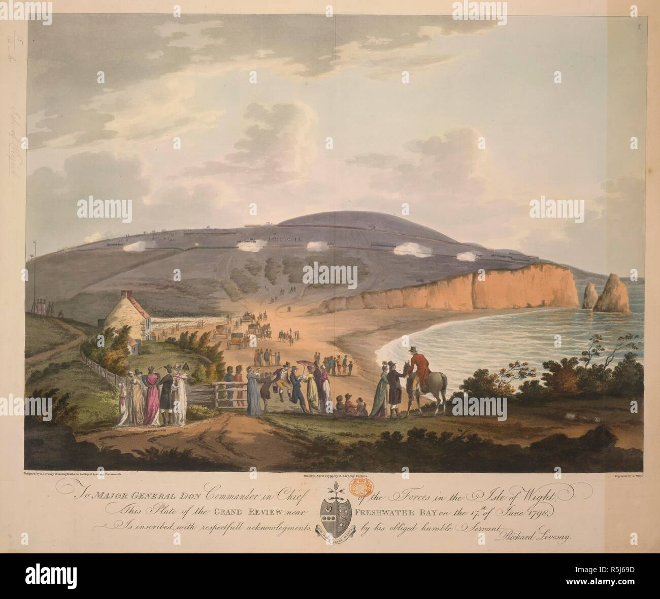 The Grand review near Freshwater bay on the 17th June, 1798  [Five