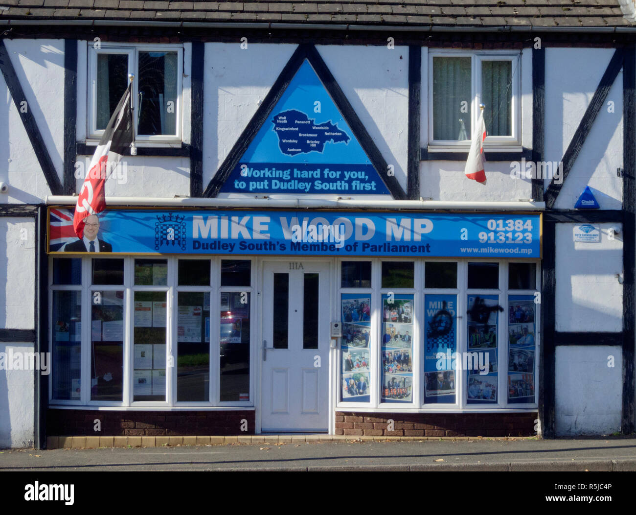 Mike Wood MP ( Conservative ) Constituency Office for Dudley South Constituency, Wordsley, West Midlands, England, UK - Stock Image