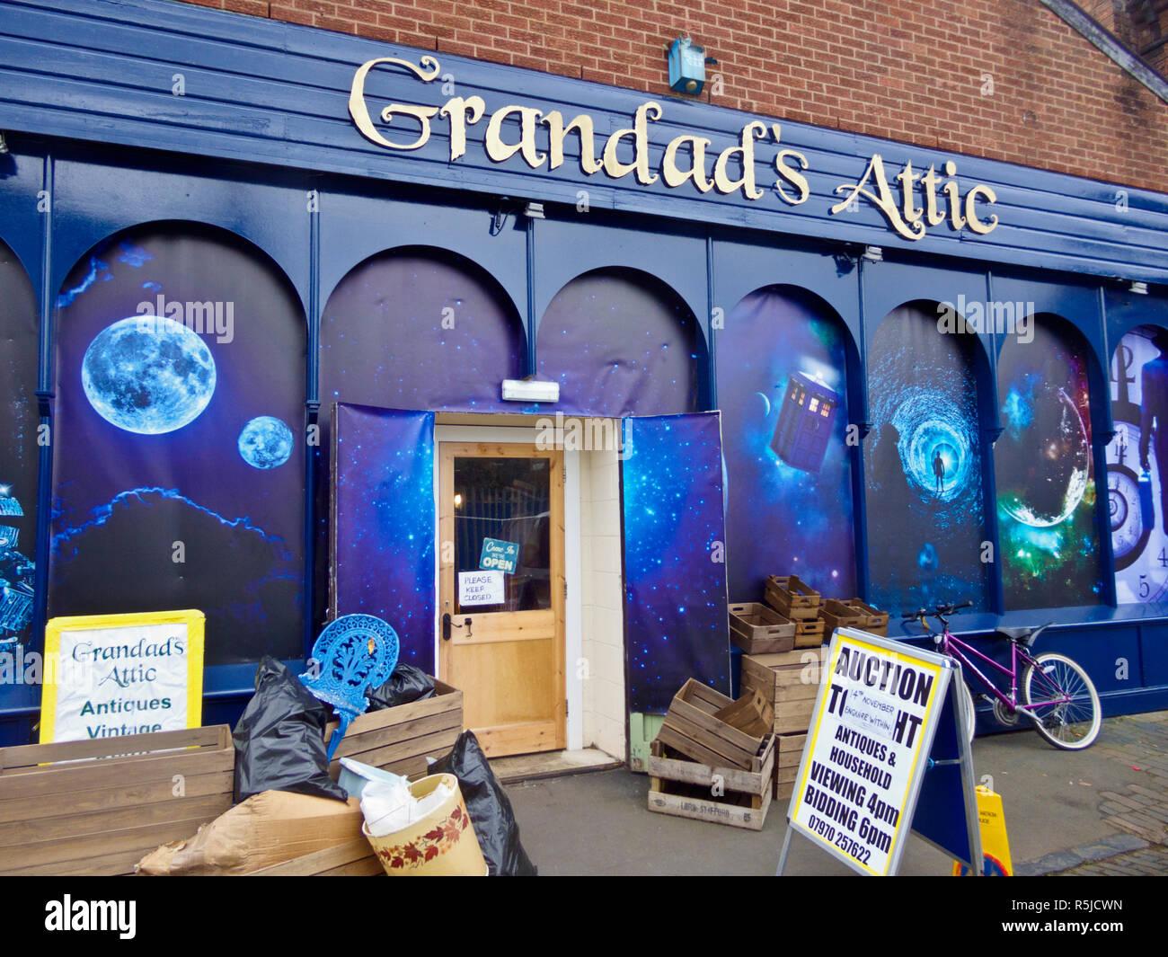 Grandad's Attic Antique or Curiosities Shop or Store, UK - Stock Image