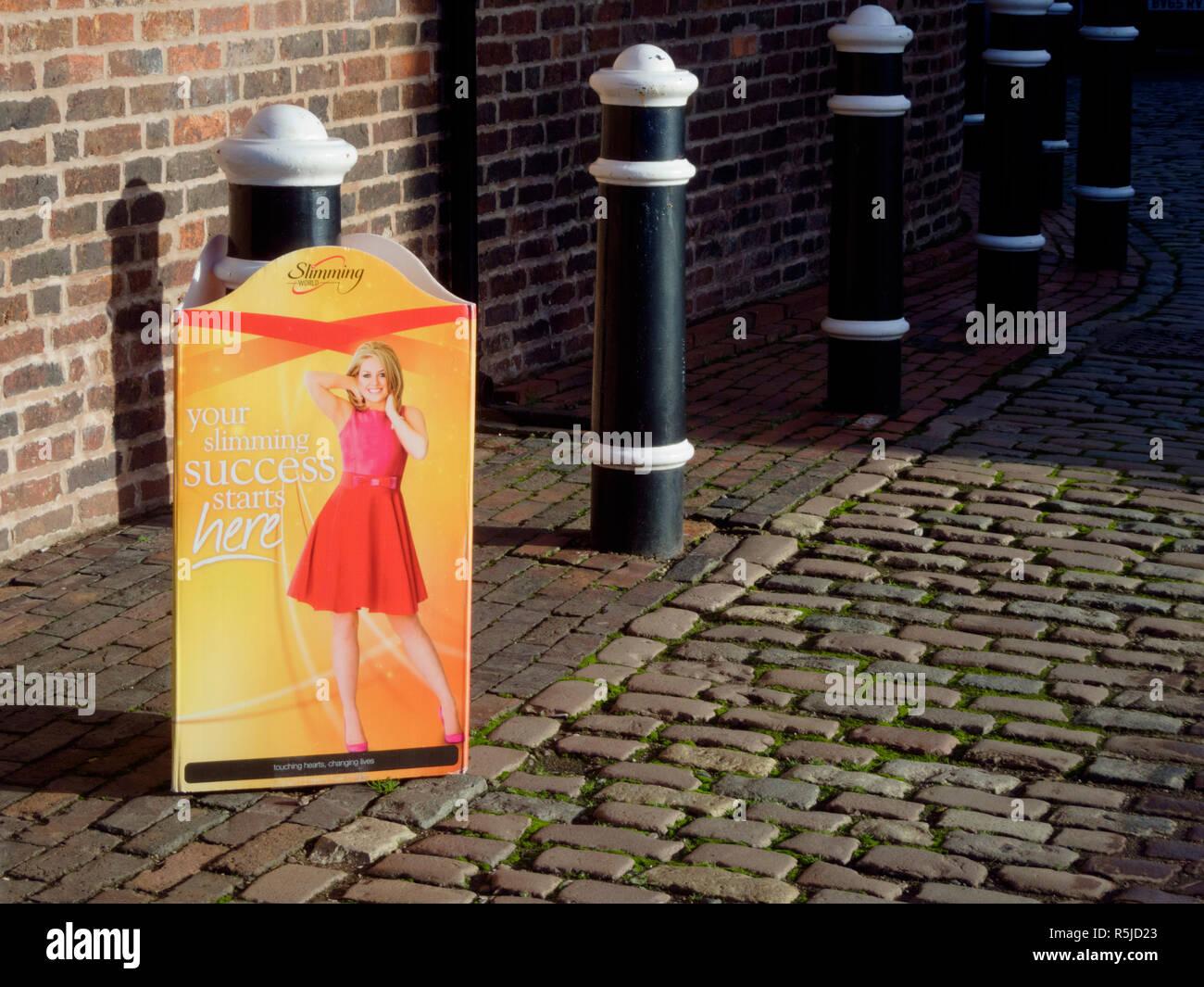Slimming World Slimming Class Advertising Board, UK - Stock Image