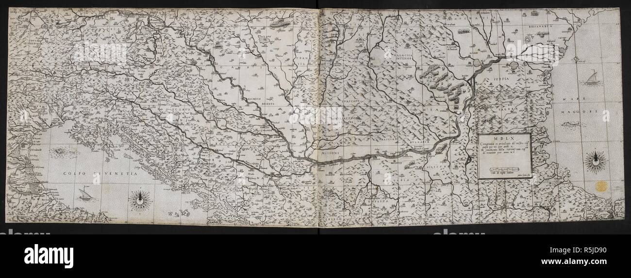 Map Of Europe 1560.A Map Of The Northern Part Of Turkey A Map Of The Northern Part Of
