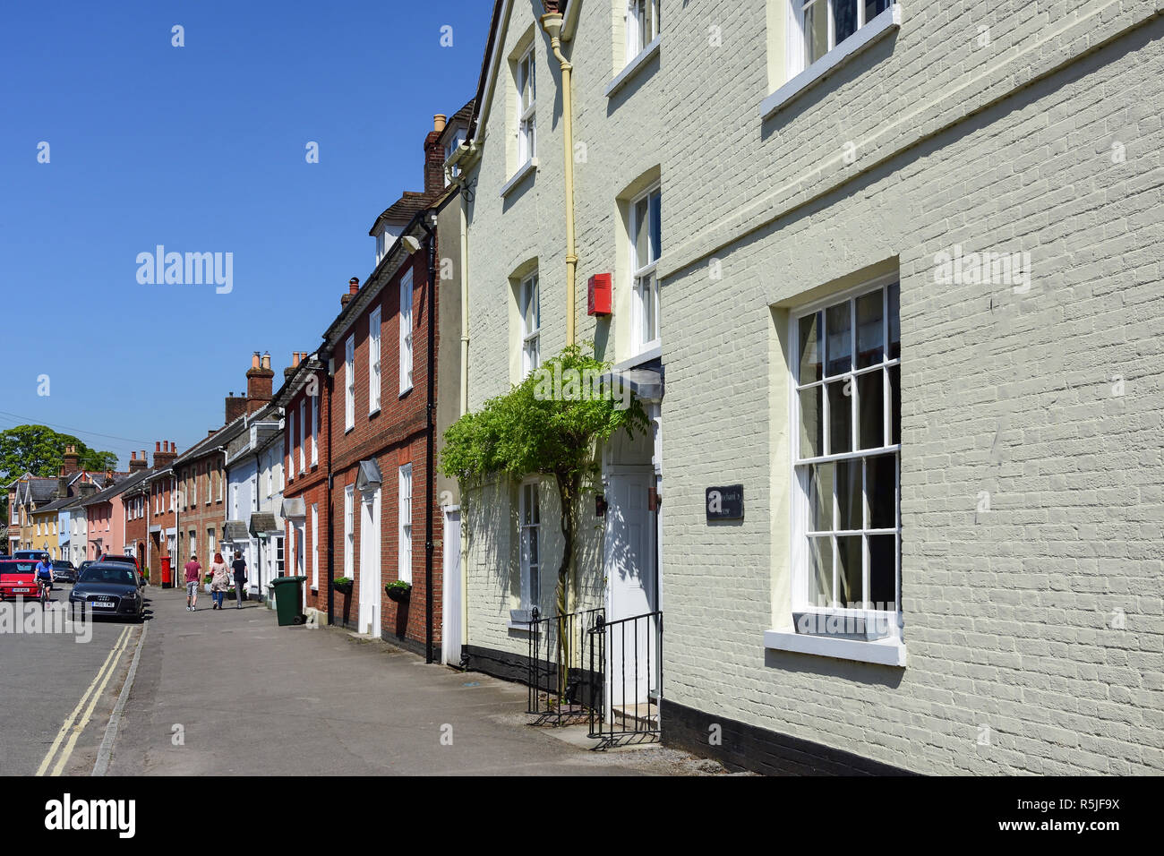 Period houses, West Borough, Wimborne Minster, Dorset, England, United Kingdom Stock Photo