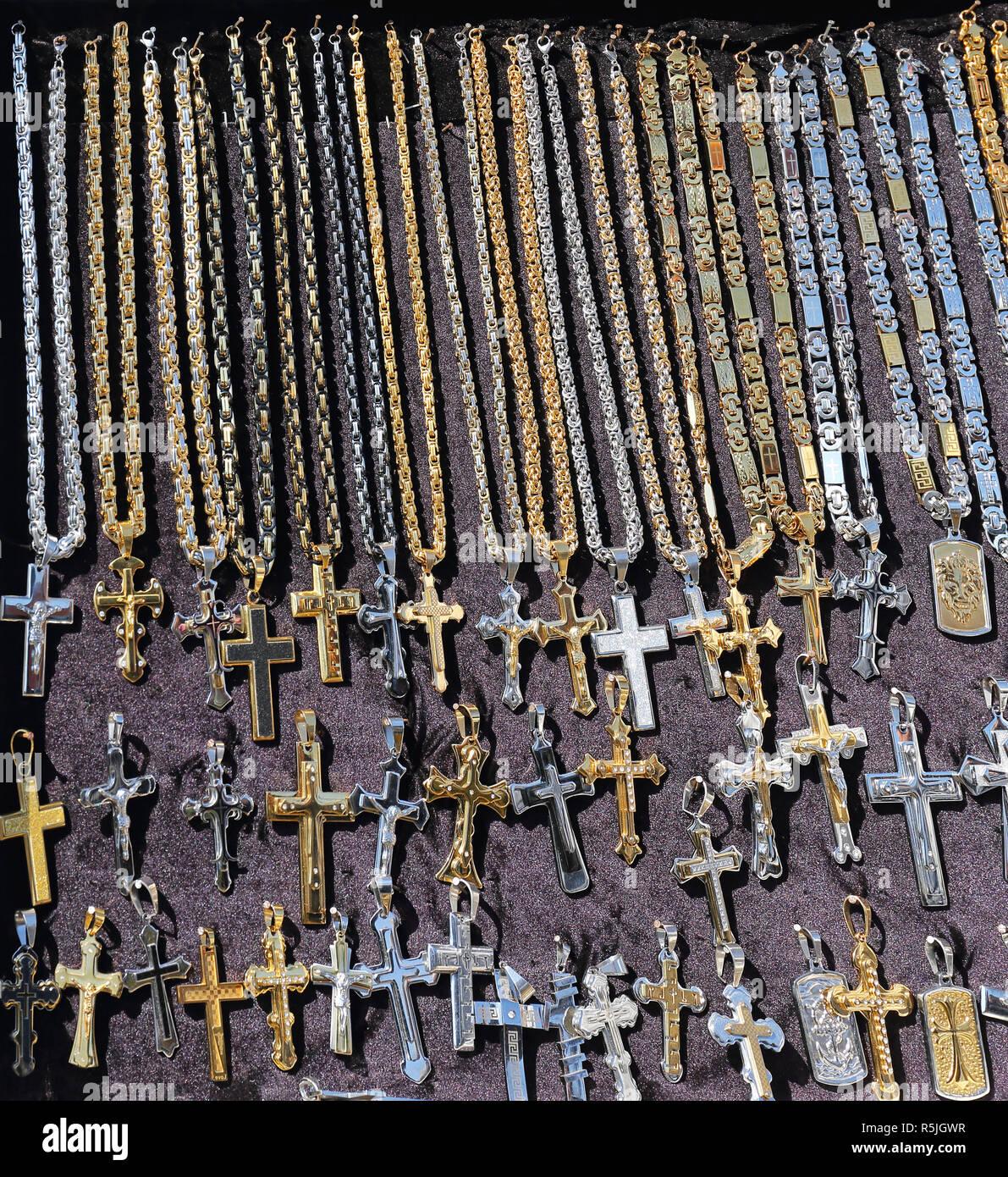 Cross Pendants - Stock Image
