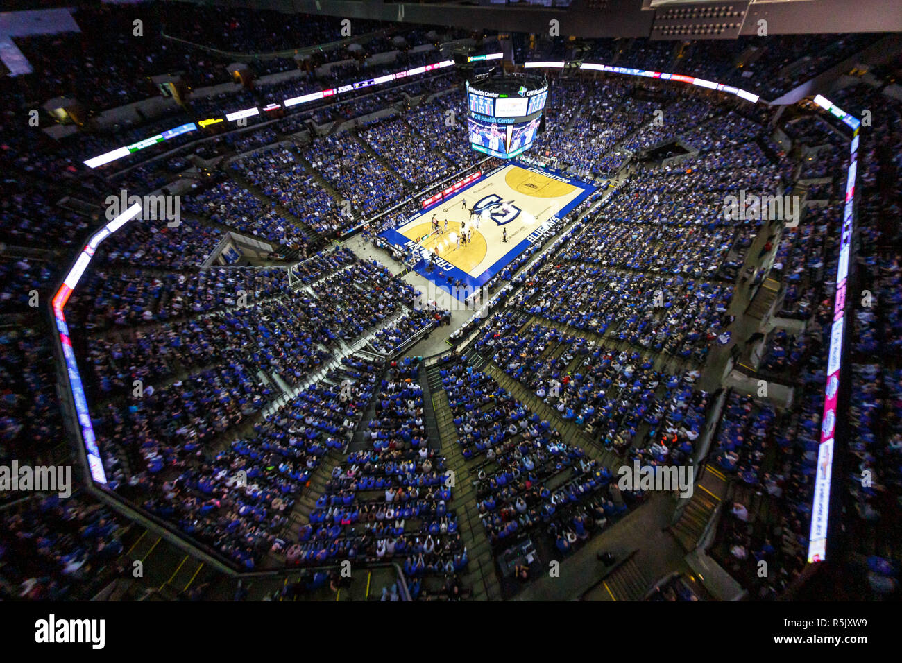 Omaha, NE U S  01st Dec, 2018  Sellout crowd during an NCAA