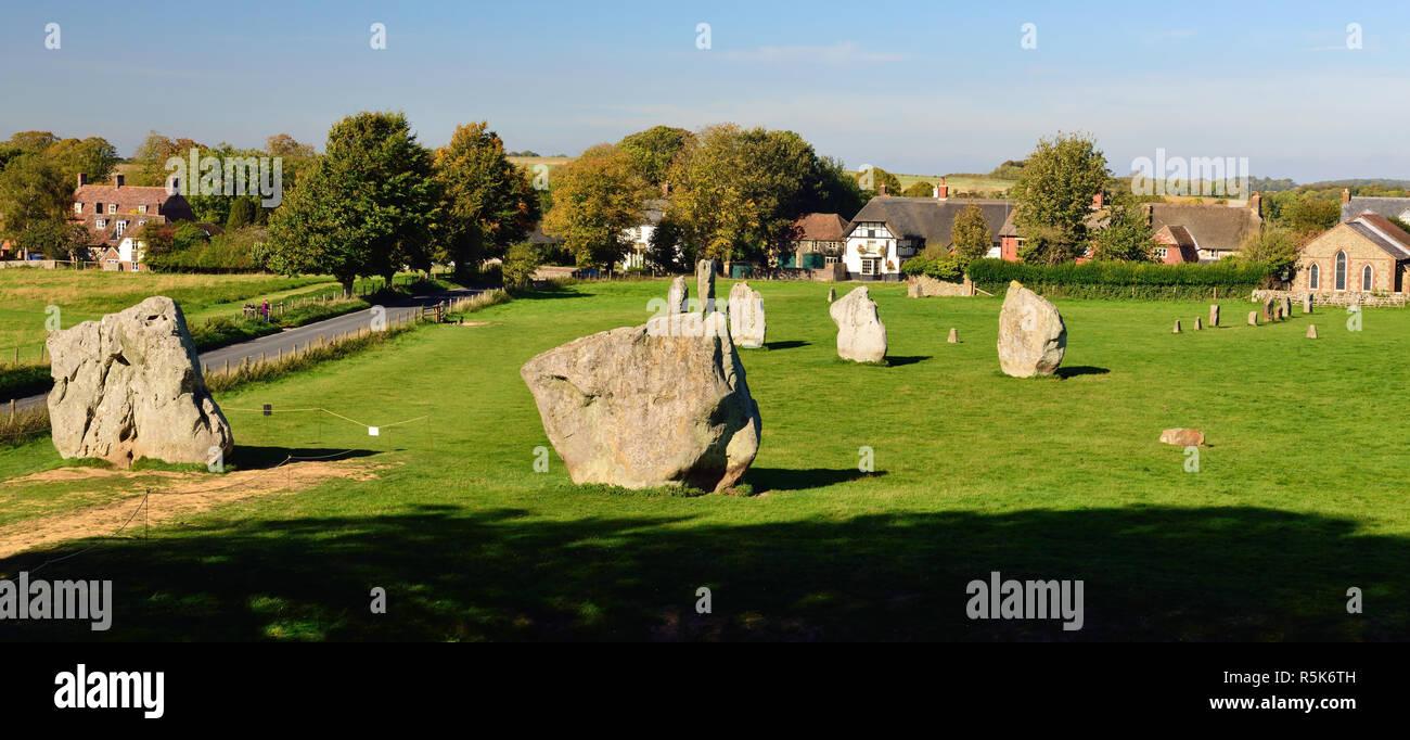 Part of Avebury stone circle. Stock Photo