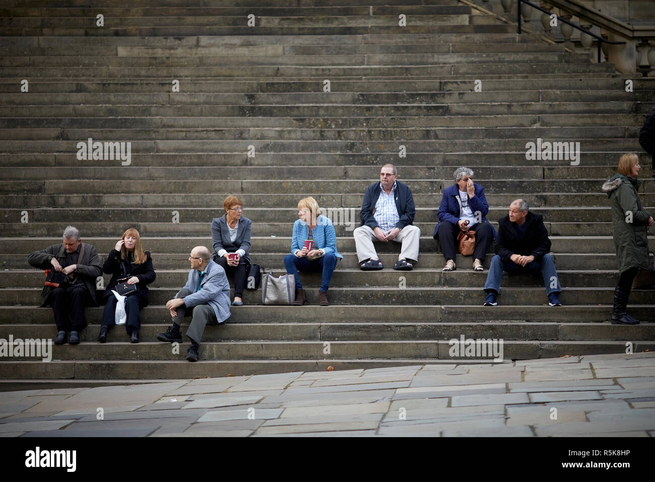 Liverpool city centre world museum steps - Stock Image