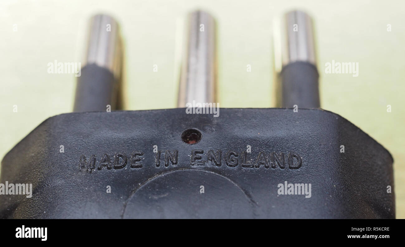 made in England label - Stock Image