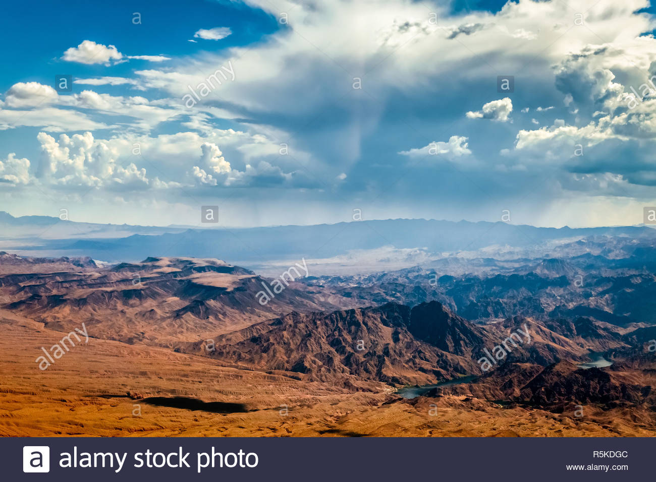Storm Approaching Mountains near Las Vegas Stock Photo
