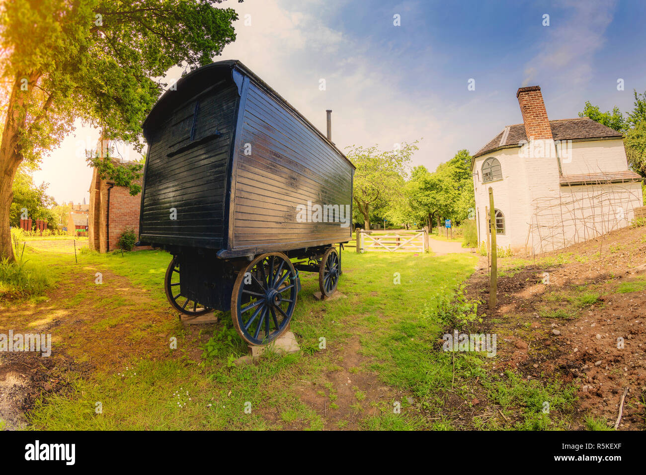 Avoncroft Museum of Historical Buildings grounds. - Stock Image