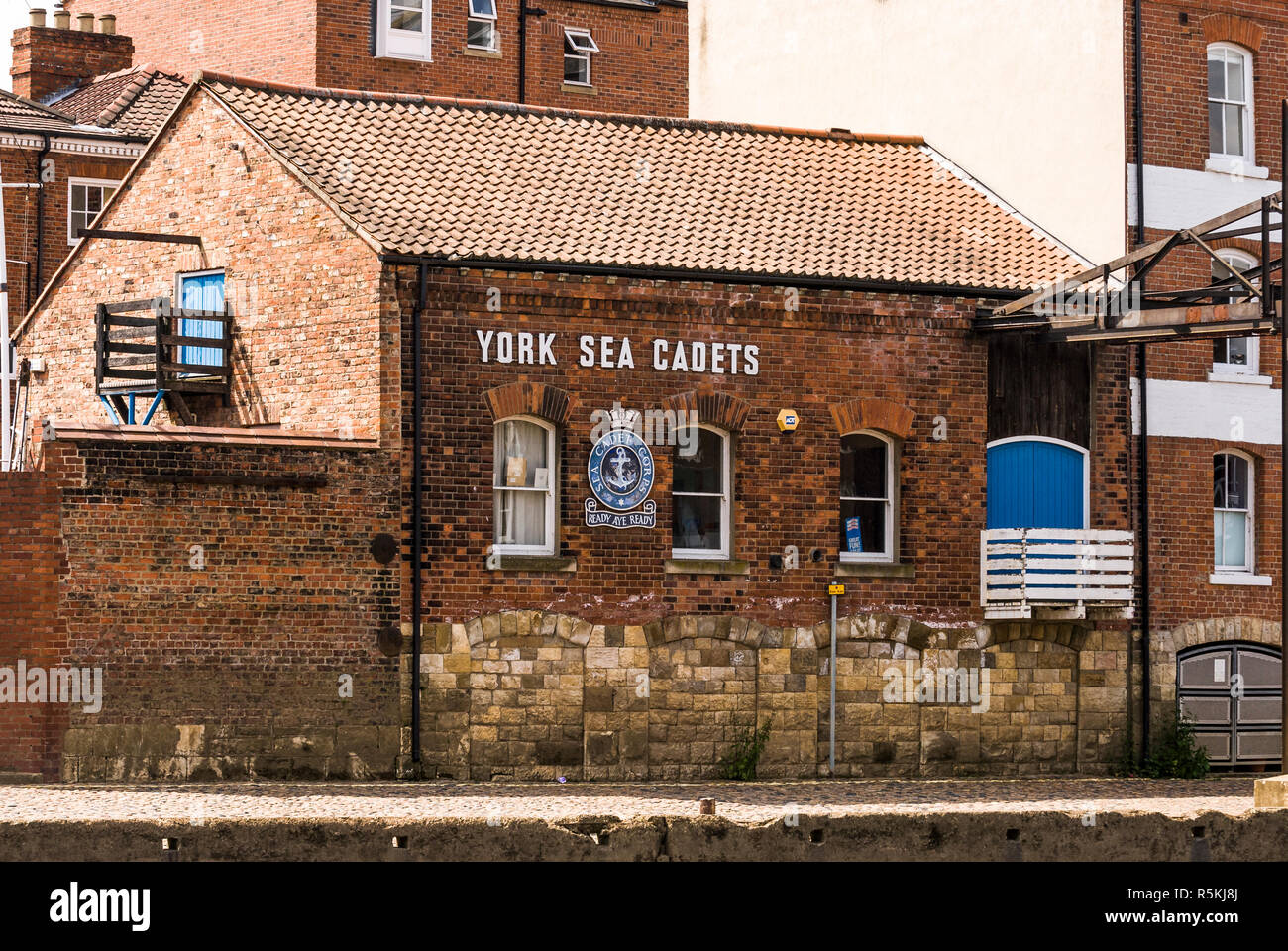 York Sea Cadets headquarters on Skeldergate. Training of young people in seamanship, discipline and life skills to better equip them for their future. - Stock Image