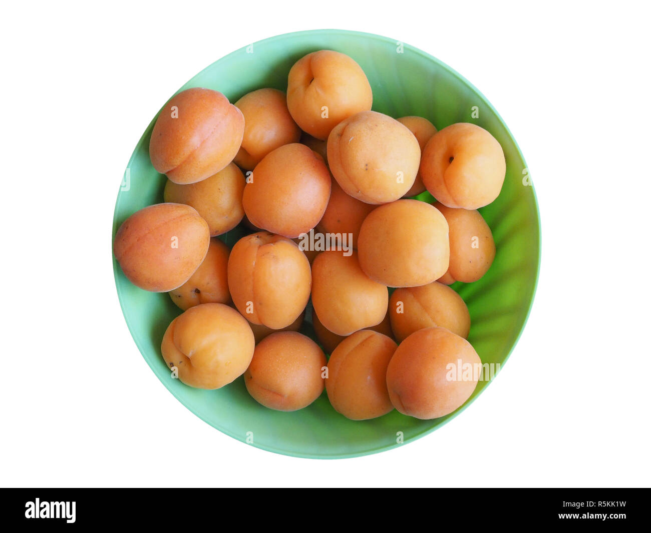 apricot fruit food isolated over white Stock Photo
