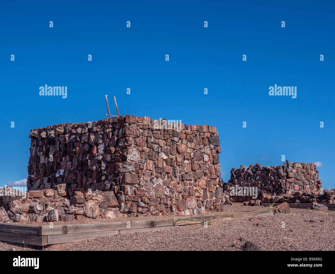 Agate House ruin, Long Log and Agate House Trails, Petrified Forest National Park, Arizona. - Stock Image