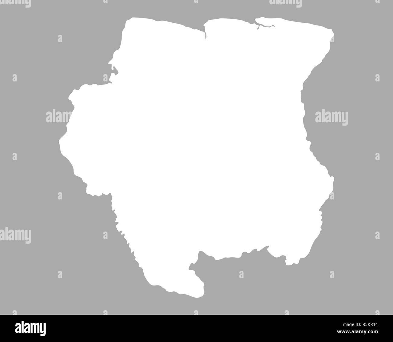 map of suriname - Stock Image