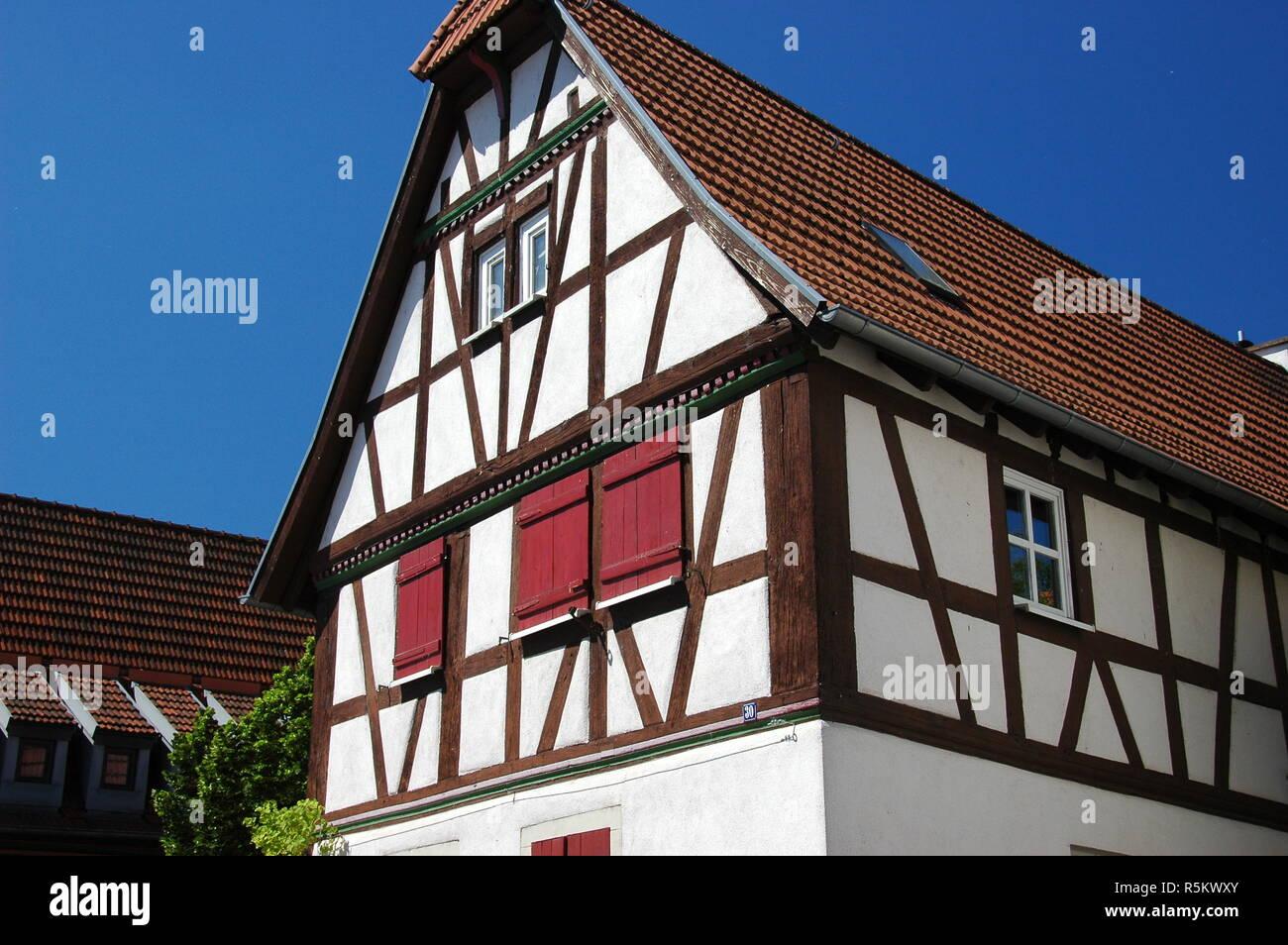 half-timbered house hinterstädel jockgrim Stock Photo