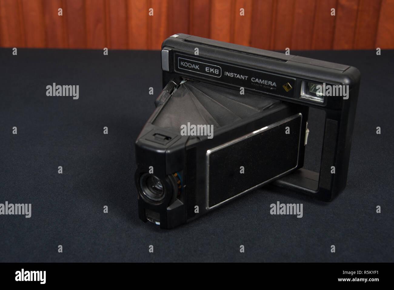 Kodak model EK8, one of Kodak's early instant cameras - Stock Image