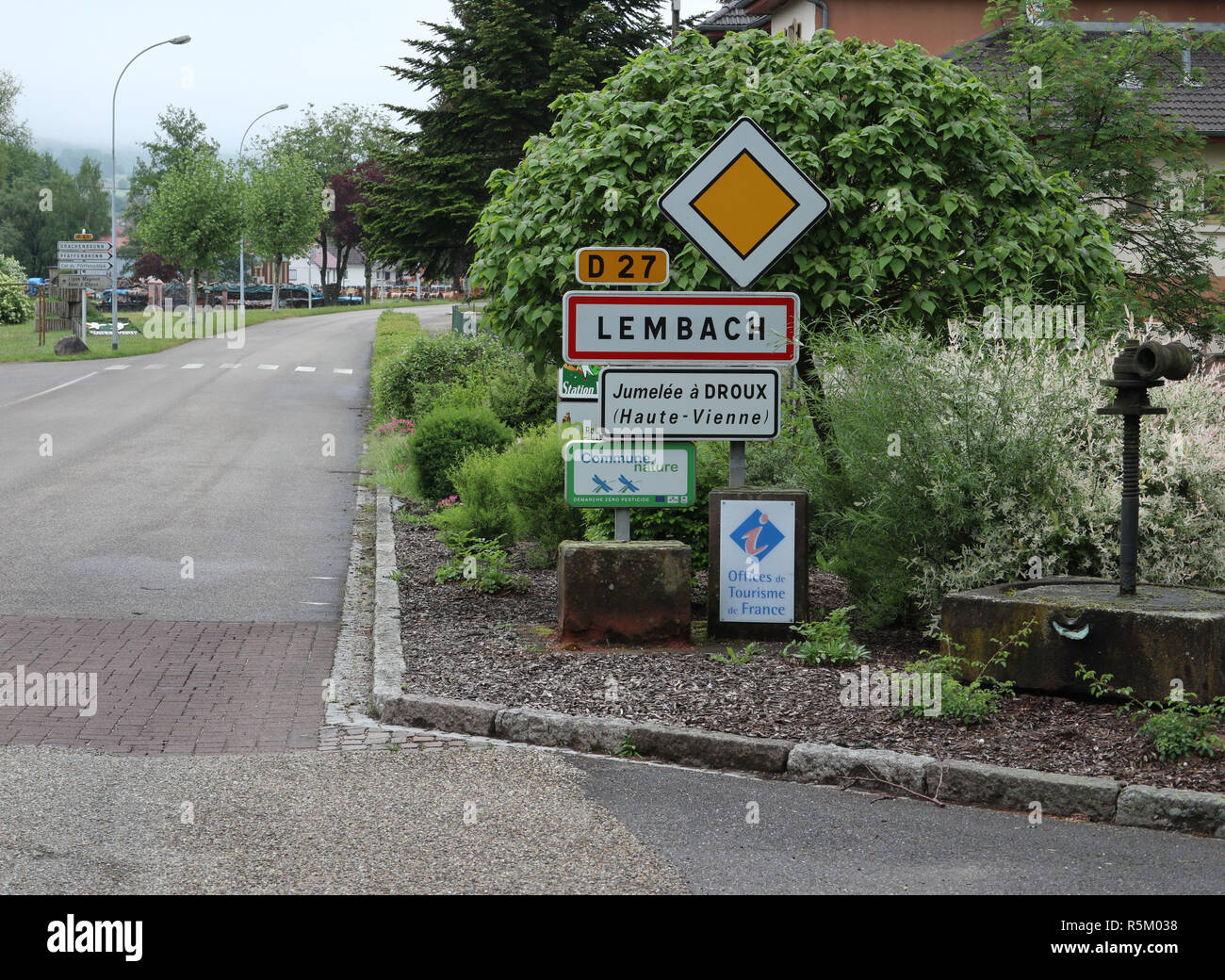 Entering Lembach France - Stock Image