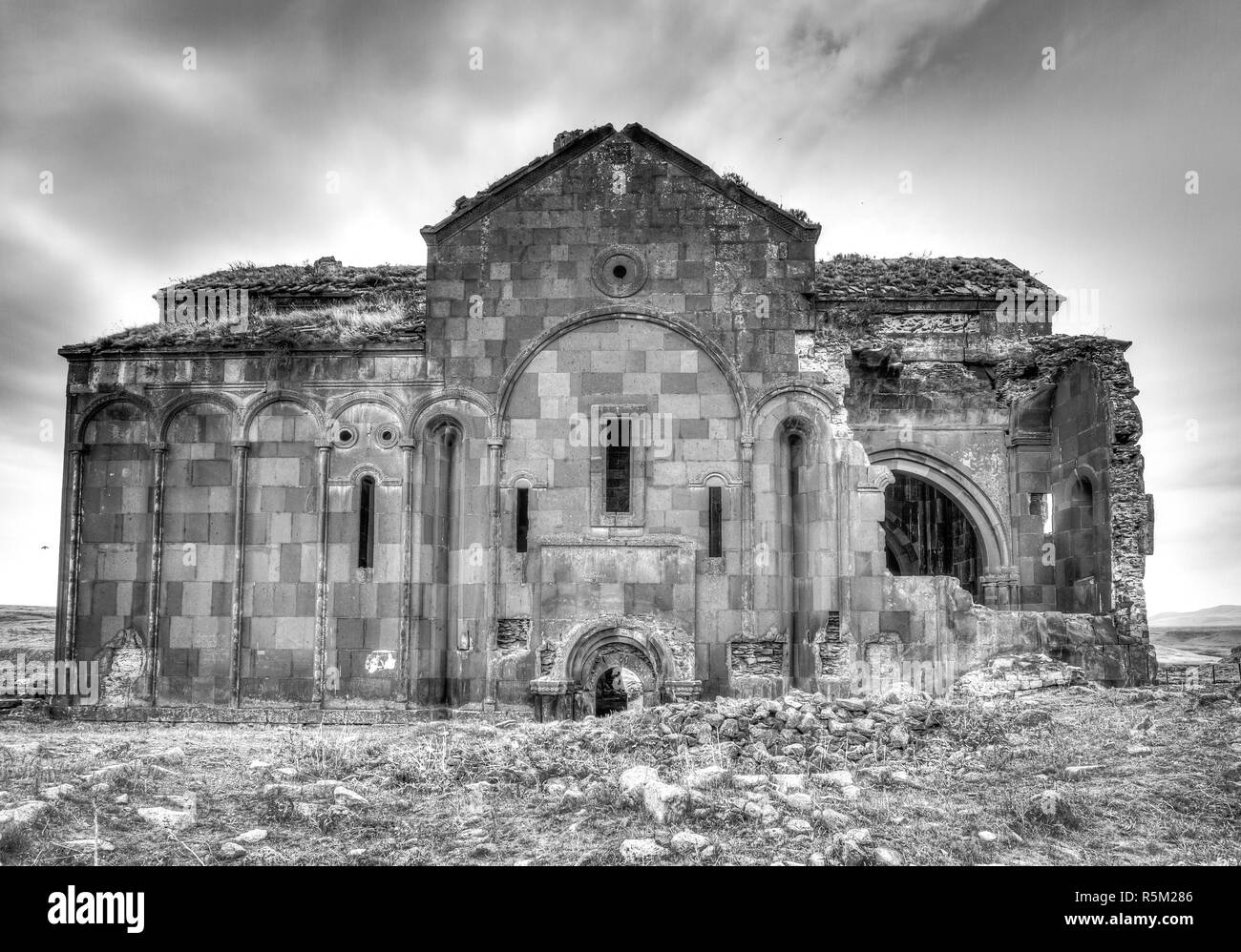 the cathedral of ani,former capital of armenia - Stock Image