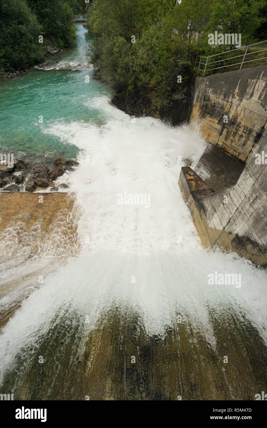 hydroelectric power station in tyrol austria - Stock Image