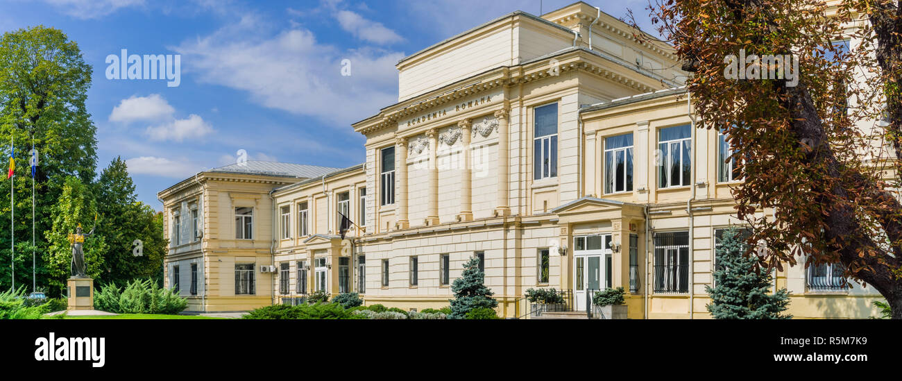 September 22, 2017 Bucharest/Romania - The Romanian Academy (Academia Romana) building, the highest scientific authority in the country - Stock Image