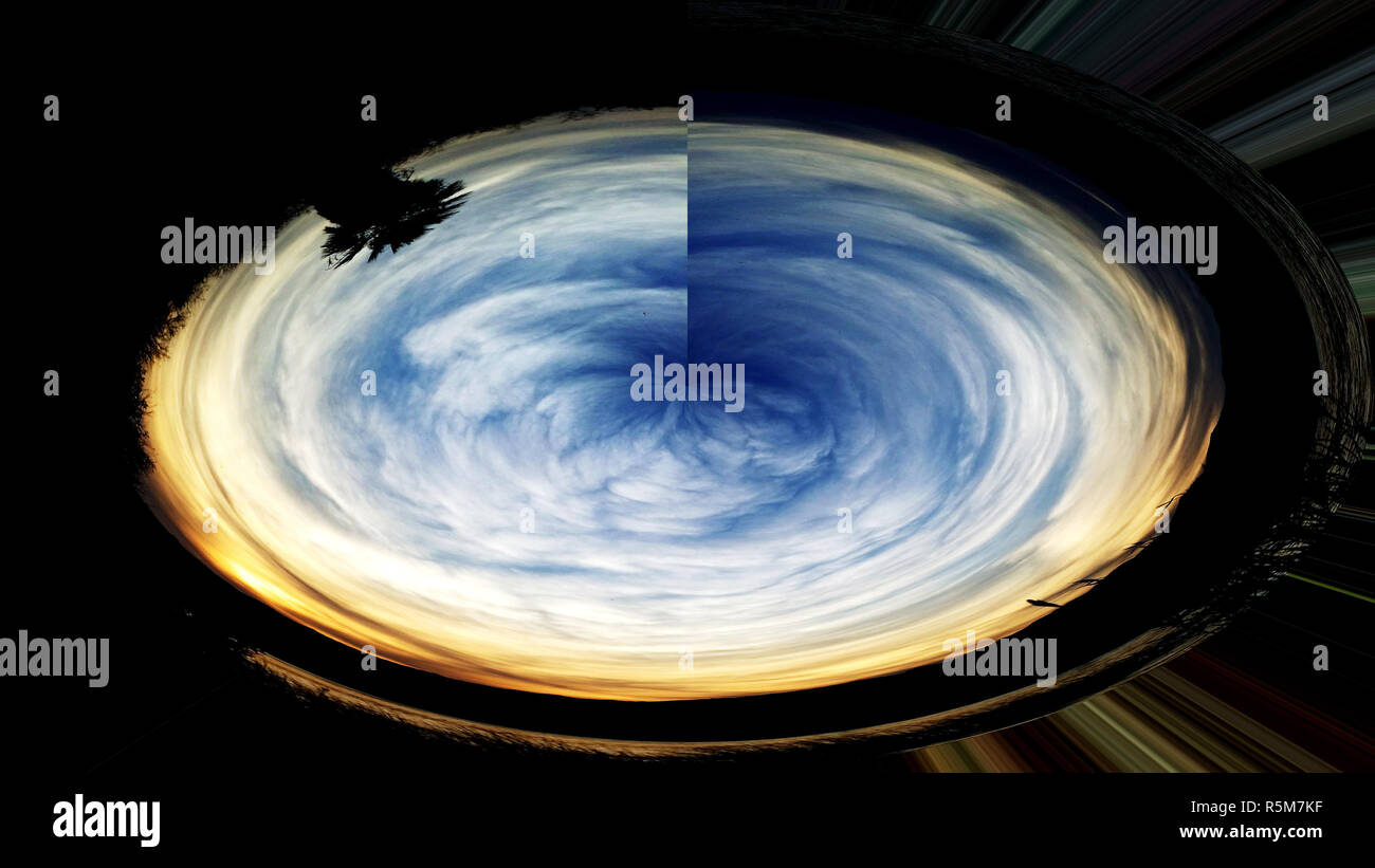 Blue Sky Rotation - Stock Image