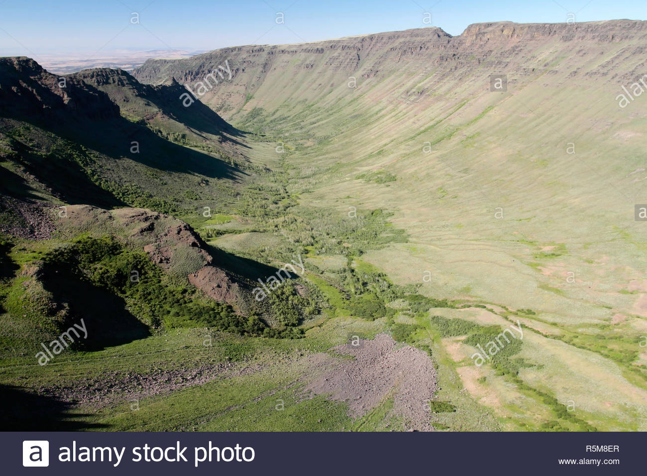 Kiger Gorge, Steens Mountain Wilderness, Bureau of Land Management, Oregon, USA - Stock Image