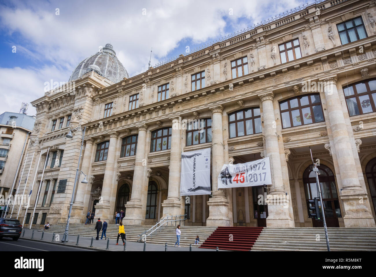 September 22 2017 Bucharest Romania National Museum Of Romanian History Mnir On Victoriei Avenue Housed In The Postal Services Palace Stock Photo Alamy