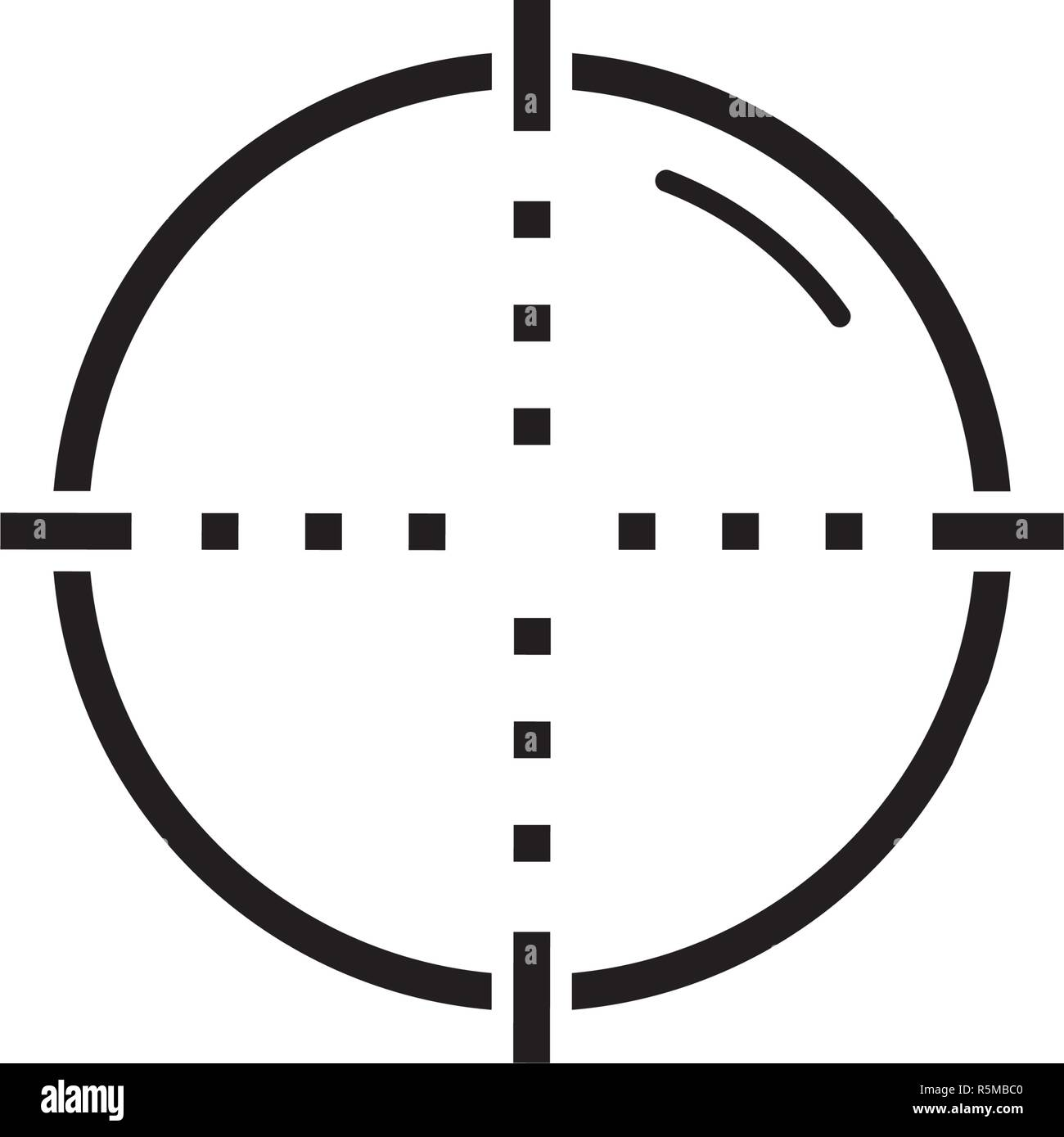 Target black icon, vector sign on isolated background. Target concept symbol, illustration  Stock Vector