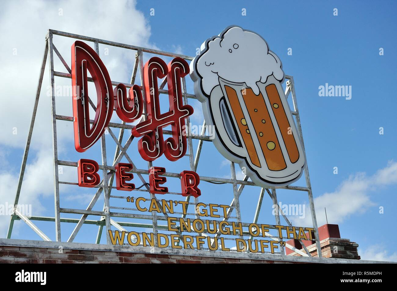 Duff Beer Sign - Stock Image