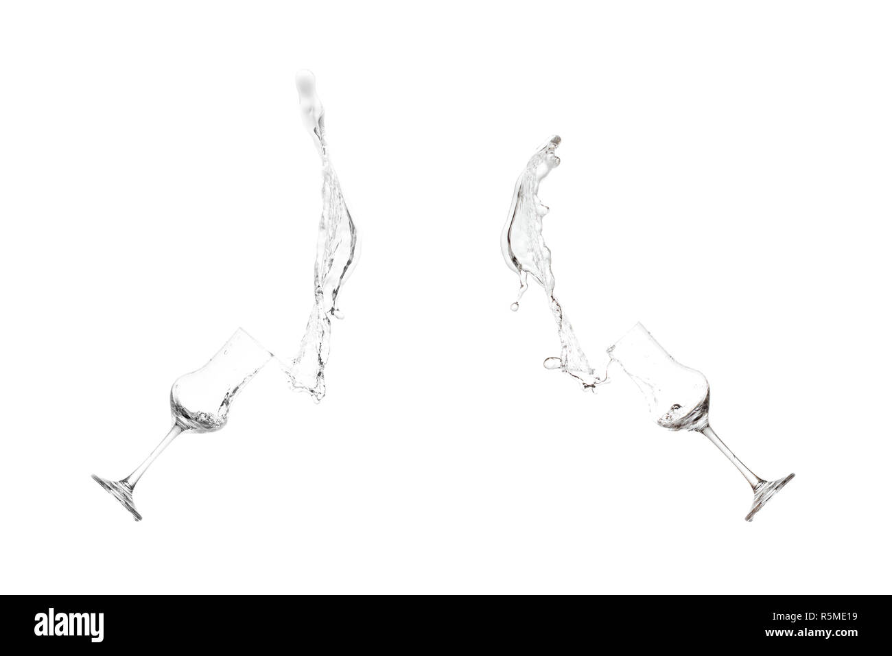 splash grappa slosh from a grappa glass - Stock Image