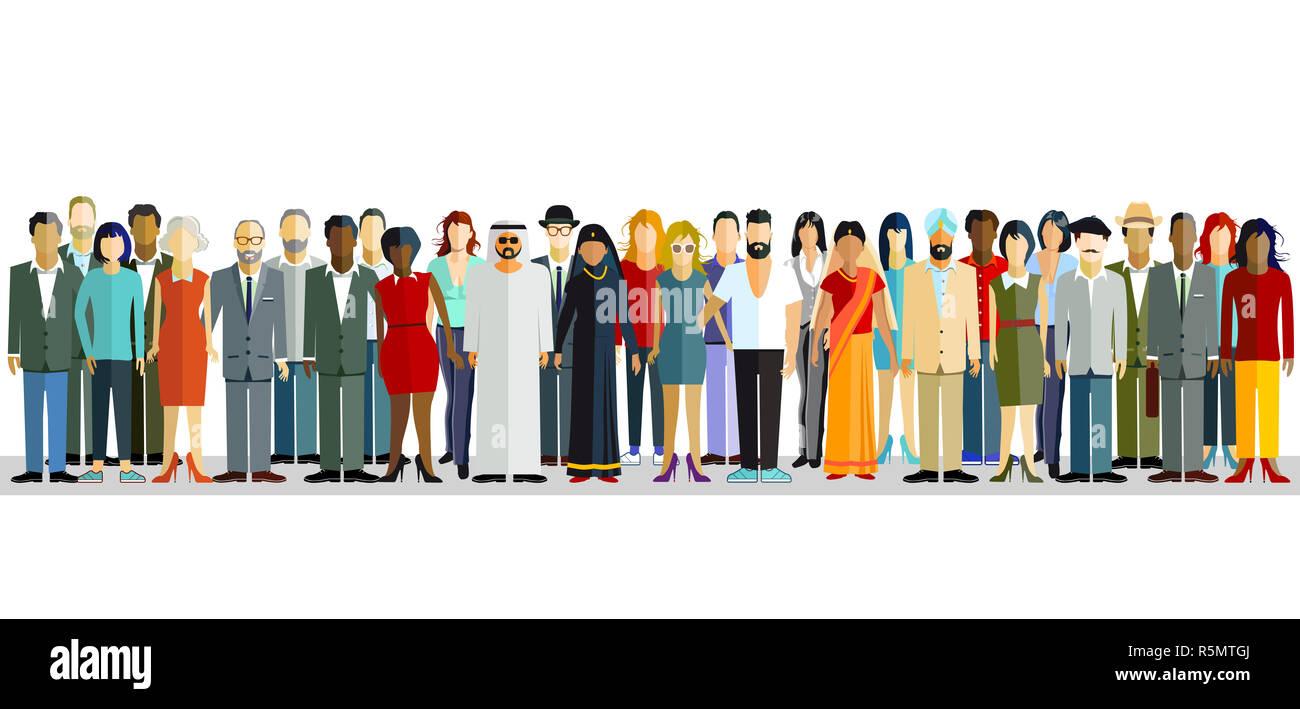 nationalities Stock Photo