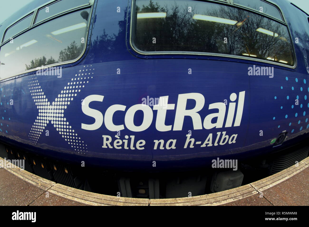 scotrail Rèile na h-Alba logo on the side of a carriage nobody - Stock Image