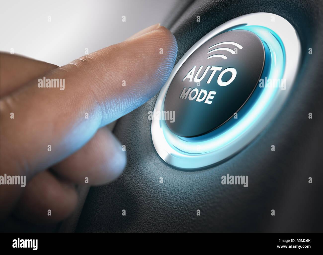 Automatic Mode Engaged - Stock Image