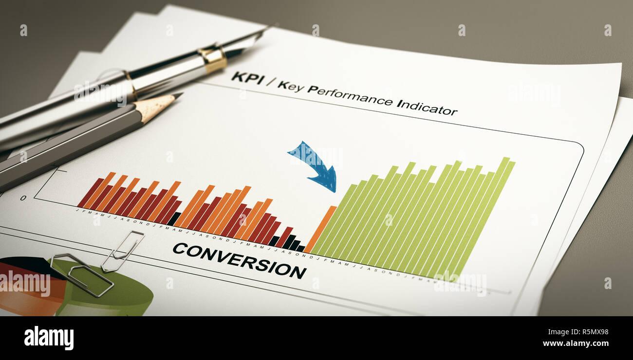 Convert Leads, Conversion Rate Optimization. - Stock Image