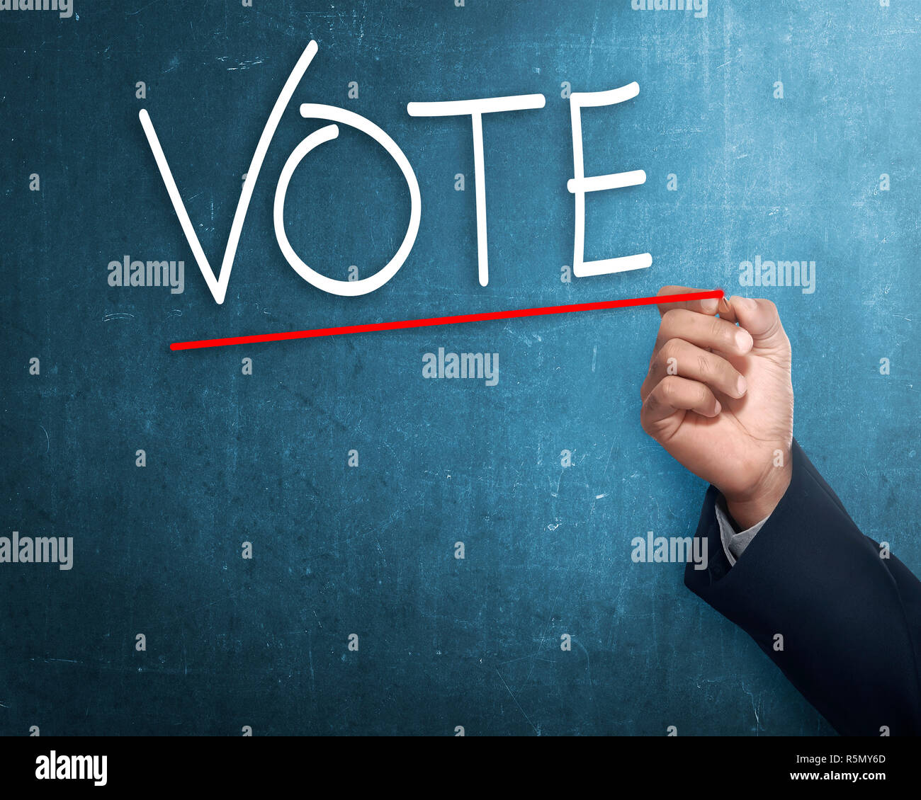 handwriting vote with red underline stock photo 227268453 alamy