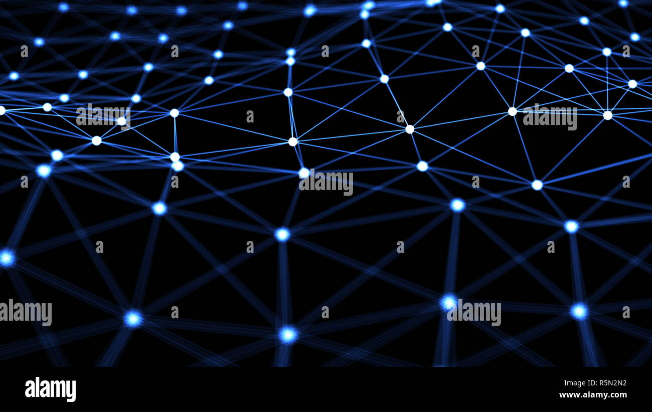 Abstract background with Neuron network Stock Photo