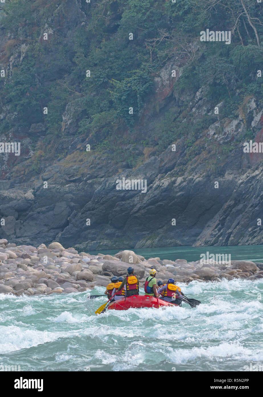 White Water Rafting In Rishikesh Stock Photo Alamy