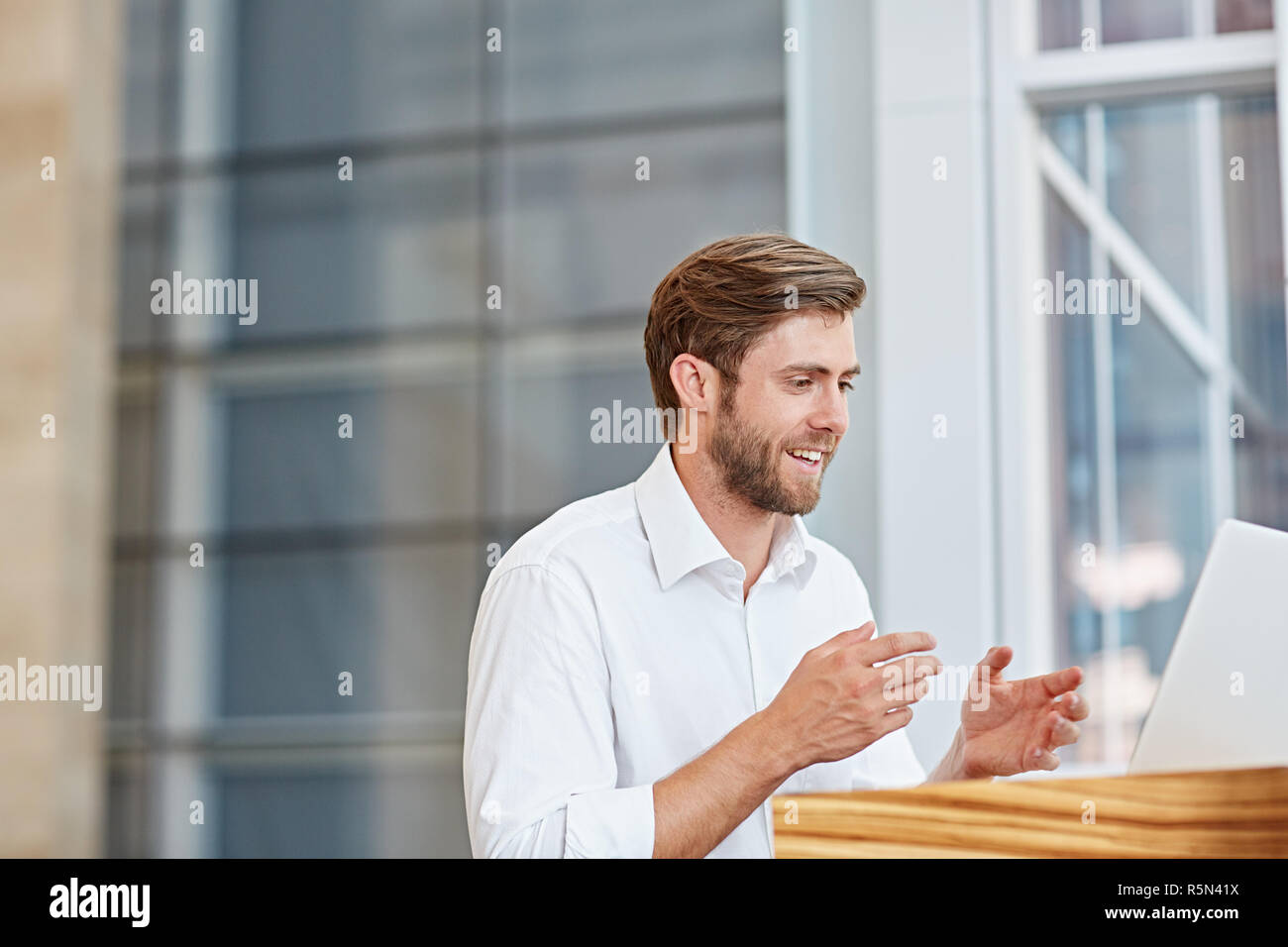 Long distance business relations have never been easier - Stock Image