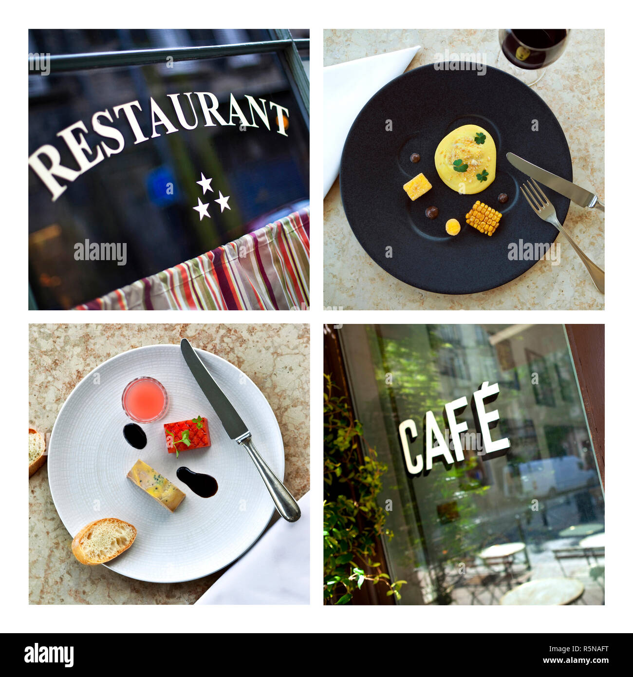 Retro Bistro Restaurant Cut Out Stock Images & Pictures - Alamy