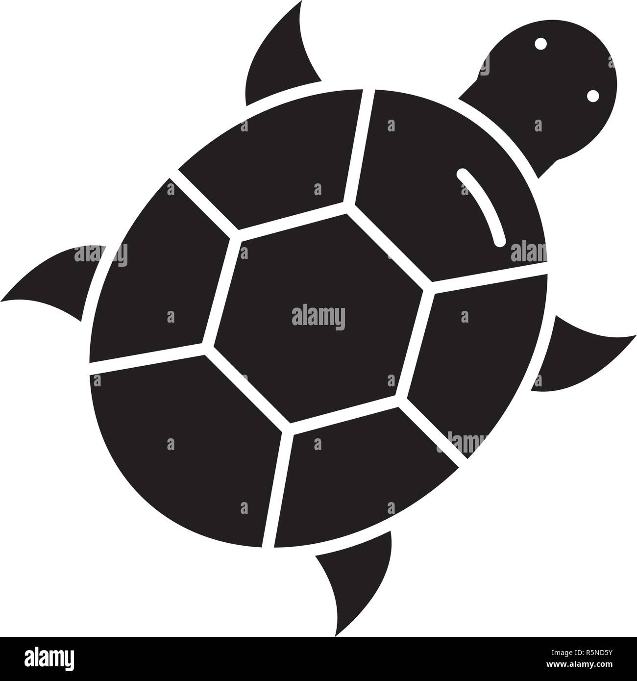 Turtle black icon, vector sign on isolated background. Turtle concept symbol, illustration  Stock Vector