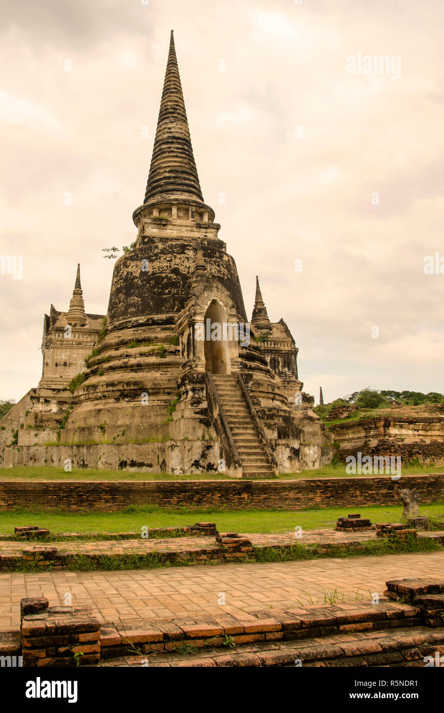 The World Cultural Heritage site of Ayutthaya is a significant historical site in Thailand as the second Kingdom of Siam from 1350-1767. - Stock Image