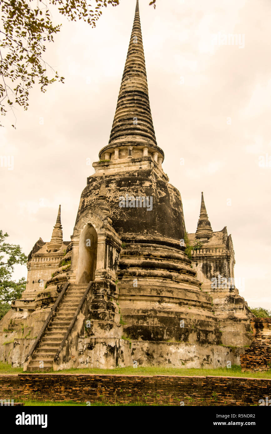 The World Cultural Heritage site of Ayutthaya is a significant historical site in Thailand. - Stock Image