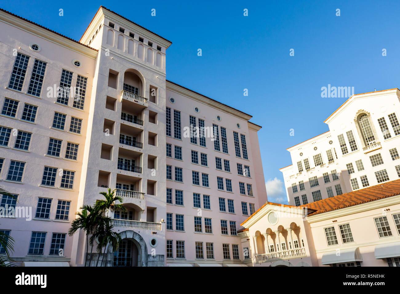 Florida, FL, South, Miami, Coral Gables, Hyatt Regency, chain, lodging, hotel hotels lodging inn motel motels, building, outside exterior, exterior, f Stock Photo