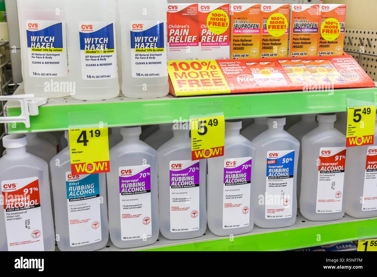 Miami Beach Florida 5th Street CVS Pharmacy drug store shelf