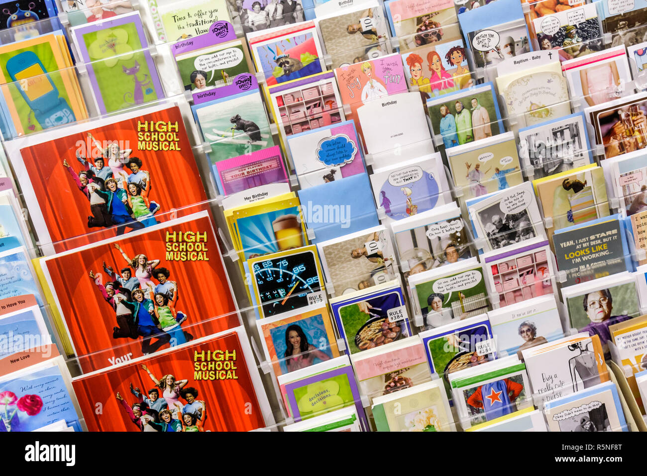 Miami Beach Florida 5th Street CVS Pharmacy Drug Store Shelf Retail Product Display Marketing Greeting Card