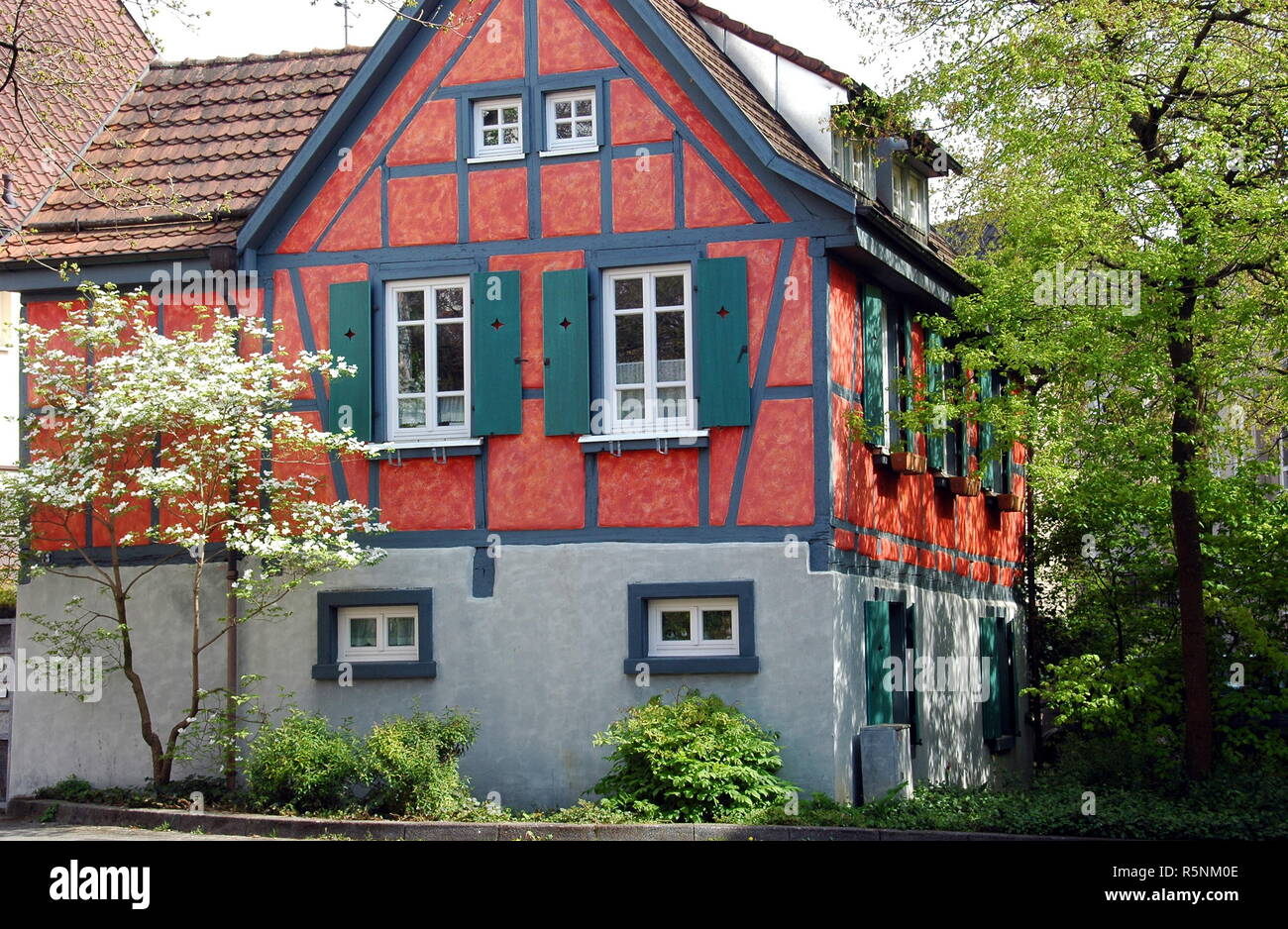half-timbered house in bretten Stock Photo