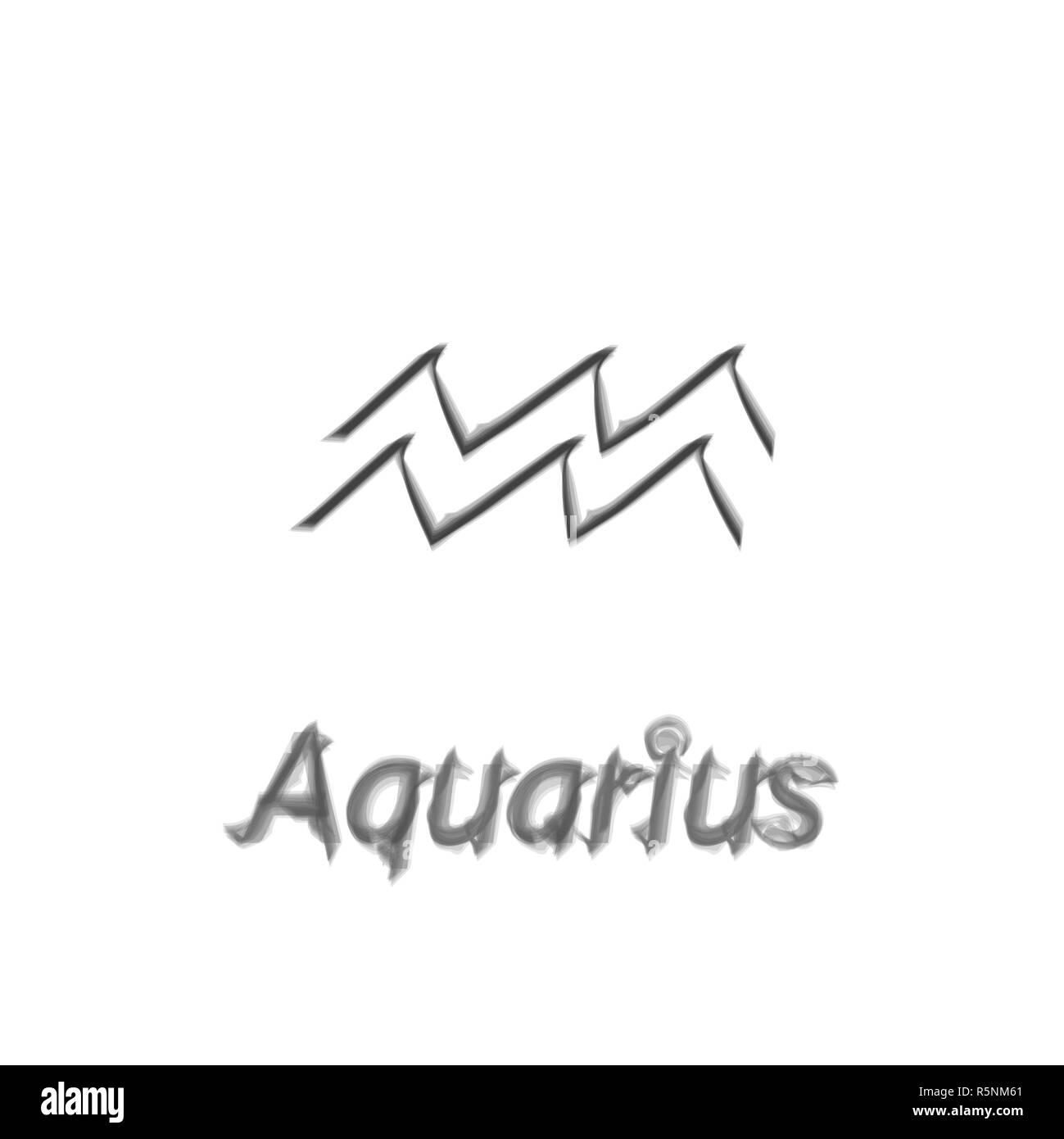 The Water-Bearer aquarius sing. Star constellation vector element. Age of aquarius constellation zodiac symbol on light background. Stock Photo