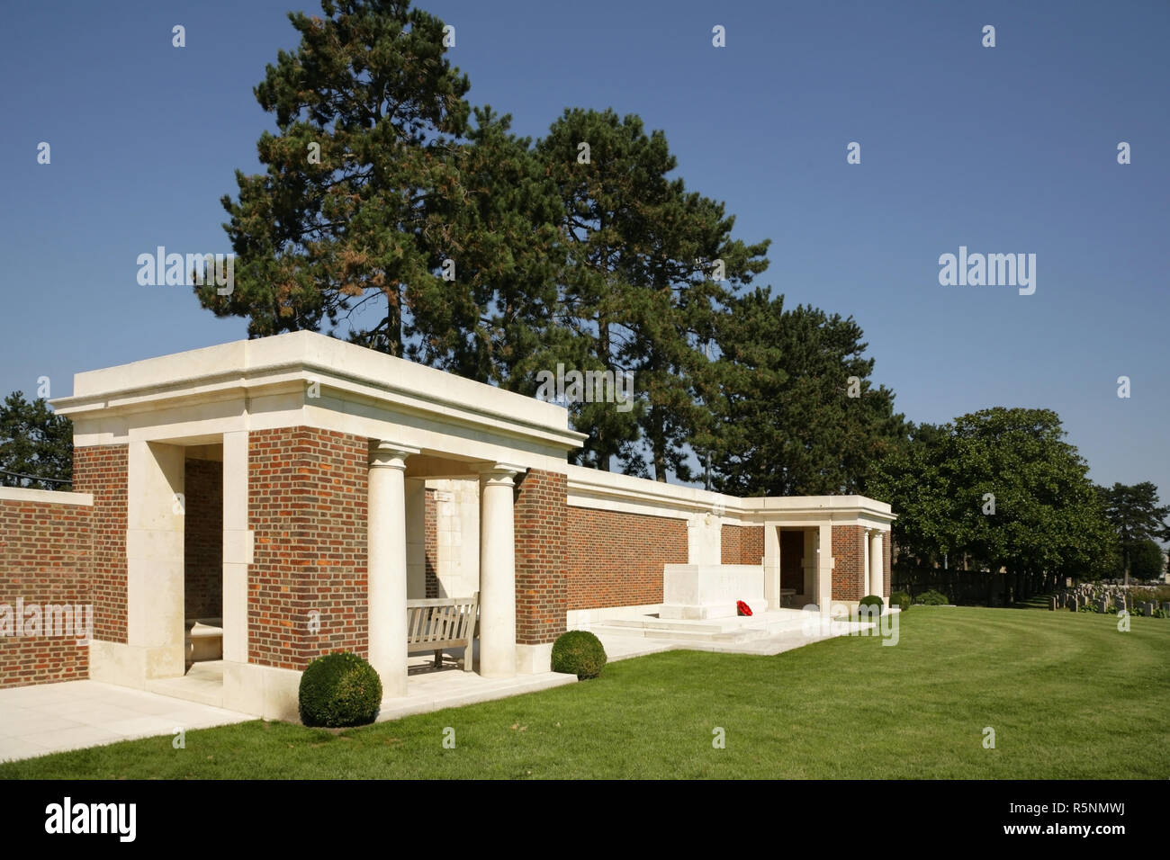 The allied St Sever Cemetery Extension, Rouen, France. - Stock Image