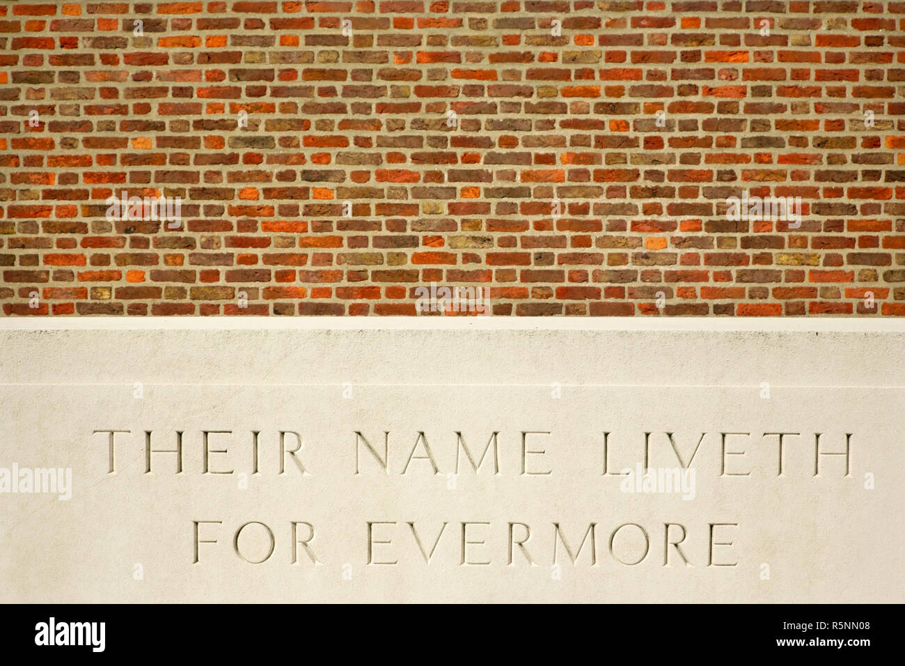 Memorial stone at the allied St Sever Cemetery Extension, Rouen, France. - Stock Image