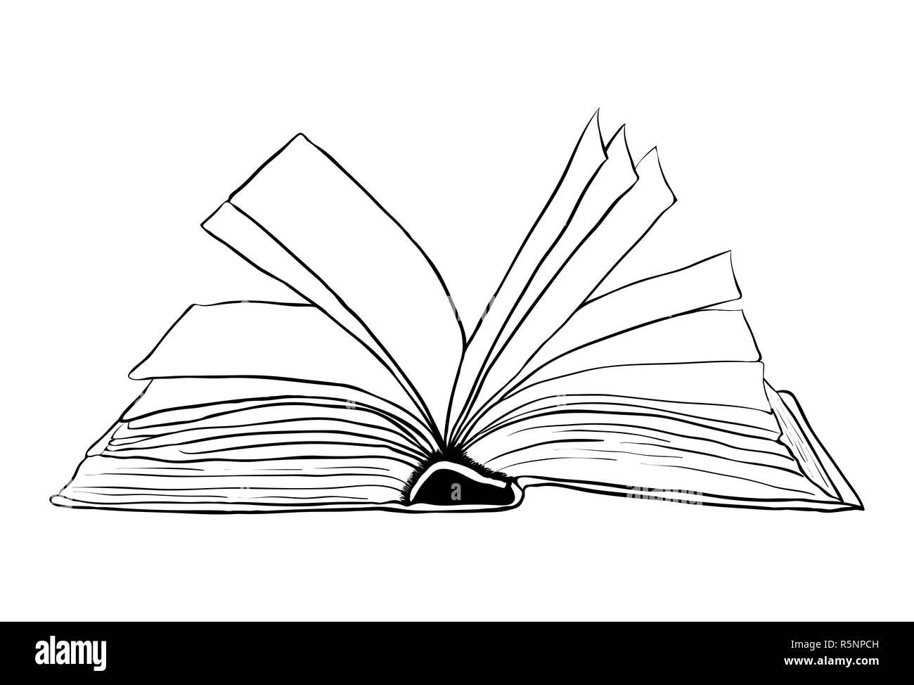 open book outline vector symbol icon design  Beautiful