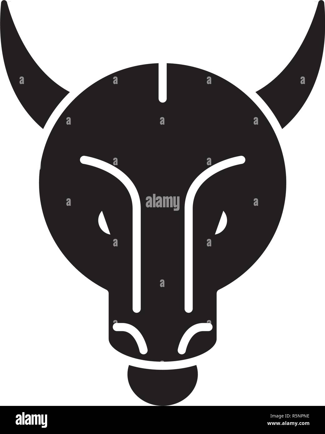Bullish trend black icon, vector sign on isolated background. Bullish trend concept symbol, illustration  - Stock Vector